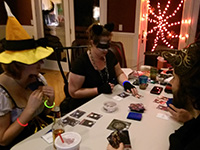 Playtesting in full costume at a Halloween party